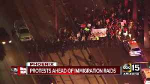 Protests ahead of immigration raids [Video]