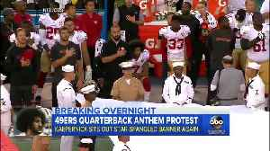 Colin Kaepernick takes knee for anthem, 2016 [Video]