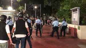 After Anti-Parallel Trading Demo Disperses, Hong Kong Police Clear Nearby Basketball Court [Video]