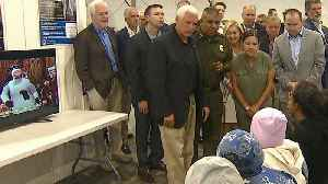 News video: Pence Visits Starkly Different Migrant Detention Centers Near Border