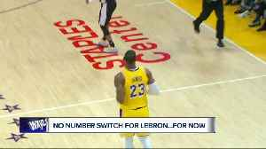 LeBron James won't wear No. 6 with Lakers in 2019-20 because he's too popular [Video]