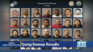 Gang Sweep 'Operation Red Desert' Nets 38 Arrests In San Joaquin, Stanislaus Counties [Video]
