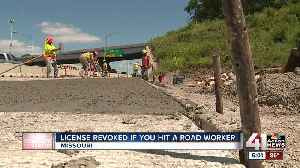 New Missouri law could cause drivers to lose license for hitting construction workers [Video]