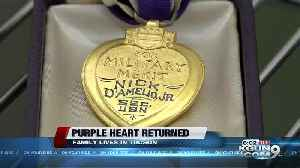 Purple Heart found at a Tucson Goodwill returned to family [Video]