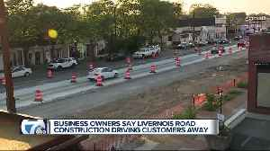 Business owners say road work is driving customers away [Video]