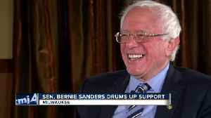Sen. Bernie Sanders drums up support [Video]