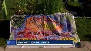 Local organizations protest immigration policy [Video]