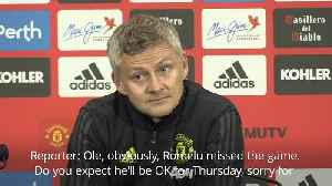 Ole Gunnar Solskjaer on Romelu Lukaku's future [Video]