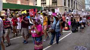 Immigration Policy Rally, March In Daley Plaza [Video]