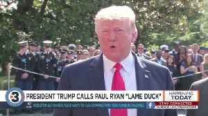 News video: Trump unloads on Paul Ryan after 'American Carnage' excerpts