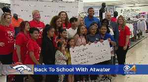 Broncos Give Back: Steve Atwater Shops For Back To School Clothes [Video]