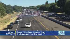 Sideshow Briefly Closes Lanes Of Northbound I-5 [Video]