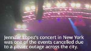 News video: New York power outage: Jennifer Lopez 'devastated' concert cancelled