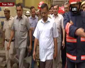 CM Kejriwal visits rubber factory where 3 people died due to fire [Video]