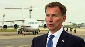 Iran nuclear deal: Jeremy Hunt aims to ease tensions [Video]