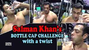 Salman Khan's BOTTLE CAP CHALLENGE with a twist [Video]