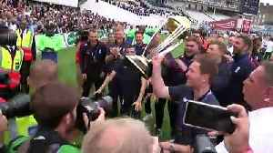 England cricket heroes lift trophy after World Cup victory [Video]