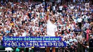 Novak Djokovic Defeats Roger Federer in Five-Set Wimbledon Final [Video]