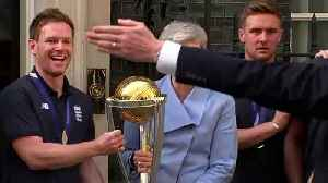 Theresa May welcomes England cricket heroes to Downing St [Video]