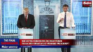 News video: Johnson and Hunt clash in final leadership debate