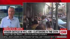 Bill de Blasio in Iowa as NYC Experiences Massive Power Outage [Video]