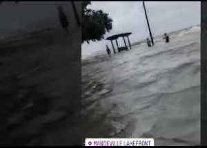 Residents Wade Through Storm Surge as Barry Slams Mandeville Lakefront [Video]