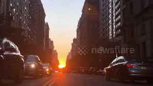 "Stunning ""Manhattan henge"" delights New Yorkers once more [Video]"