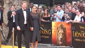 Prince Harry and Meghan Markle on red carpet for 'Lion King' premiere [Video]