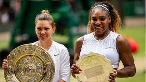 News video: Simona Halep beats Serena Williams at Winbledon