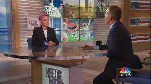 Chuck Todd asks Rapinoe what she has to say to fans who support Trump [Video]