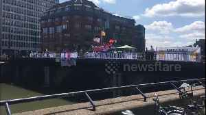 Climate activists form blockade in central Bristol as part of coordinated national protest [Video]