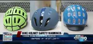 Bike helmets that pose safety risks for adults, children [Video]