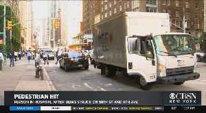 Pedestrian Hospitalized After Hit By Trick At 58th And Sixth Avenue [Video]