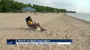 News video: Locals hit beach for potentially hottest week of the year
