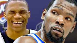 News video: Russell Westbrook RUTHLESSLY Laughs At Joke About Kevin Durant!
