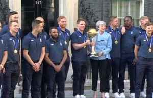 PM May hosts England's World Cup winners