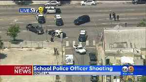 1 Injured In South LA Shooting Involving School Police Officer [Video]