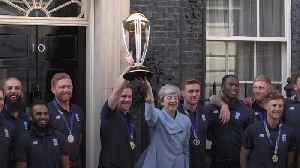 News video: Theresa May meets England cricket team after World Cup win