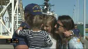 U.S. Coast Guard Cutter Crew Members Welcomed Home By Families [Video]