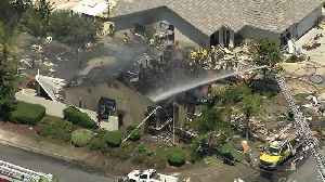 Possible Explosion Destroys Southern California Home [Video]