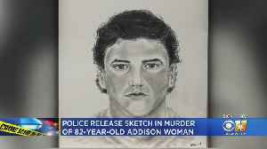 Sketch Released Of Man With 'Information In Connection' With Addison Homicide Of Elderly Woman [Video]