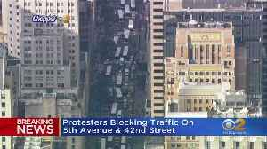 Protesters Block Traffic On Fifth Avenue And 42nd Street [Video]