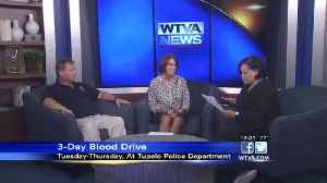 Blood drive pits Tupelo poilce and firefighters in friendly battle [Video]