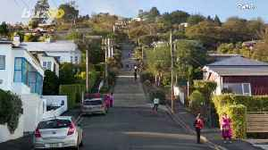 News video: Guinness World Record Crowns This Street The Steepest Street In The World!