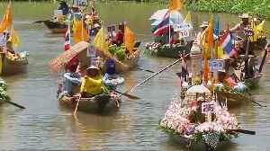 Thailand: Colourful river festival marks the beginning of Buddhist Lent [Video]