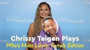 Chrissy Teigen Dishes on Her Family, From Who Snores the Loudest to Who's Most Likely to Be a Meme [Video]