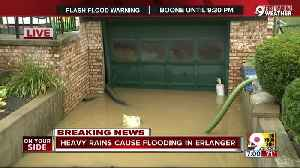 Heavy rains cause flooding in Erlanger [Video]