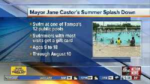 Kids can win a gift card simply by swimming at Tampa pools before school starts [Video]