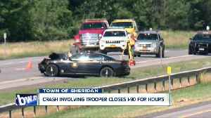 Trooper-involved crash shuts down New York State Thruway in Western New York for hours [Video]