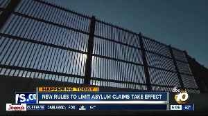Regulations that limit asylum claims takes effect [Video]
